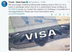 美国呼吁全球医生赴美支援,怎么办理签证?
